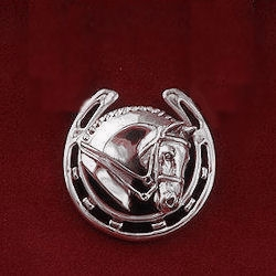 House & Dressage brooch in sterling silver by Jane Heart Jeweler
