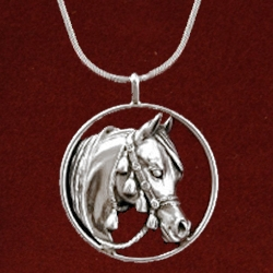 Arabian horse pendant horsejewelry arabian horse pendant aloadofball Images