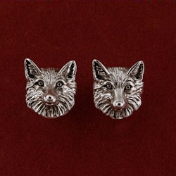 Fox head cuff links from Jane Heart Jewelry