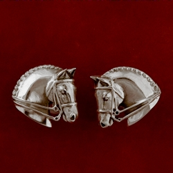 Dressage Sterling Silver Horse Head Earrings