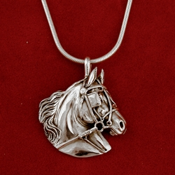 Driving horse sterling pendant horsejewelry driving horse sterling pendant aloadofball Images