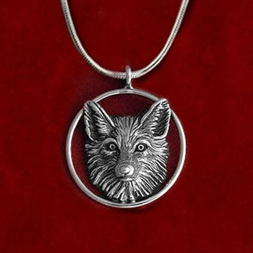 Sterling silver fox pendant by Jane Heart Jewelry