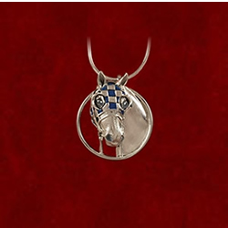 Sterling Silver Secretariat pendant from Jane Heart Jewelry