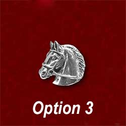 Custom horse head signet ring