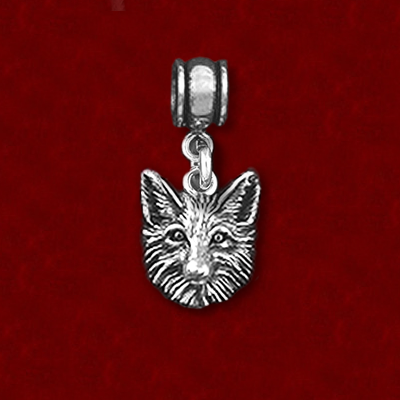 40d9ed243 Sterling Silver Fox Head - HorseJewelry.com
