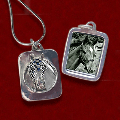 Secretariat Photo Pendant from Jane Heart Jewelry
