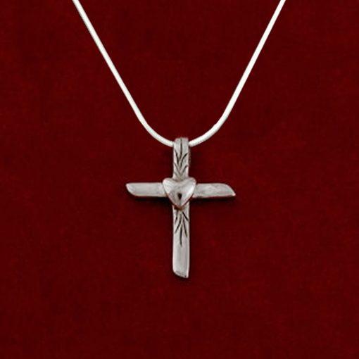 Mini Heart Cross by Jane Heart Jewelry