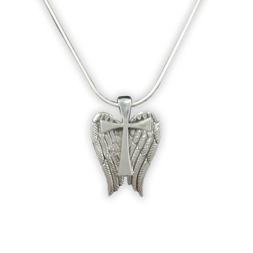 Sterling angel wing cross by Jane Heart Jewelry