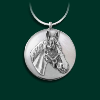 Justify horse necklace