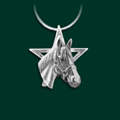 Justify horse necklace