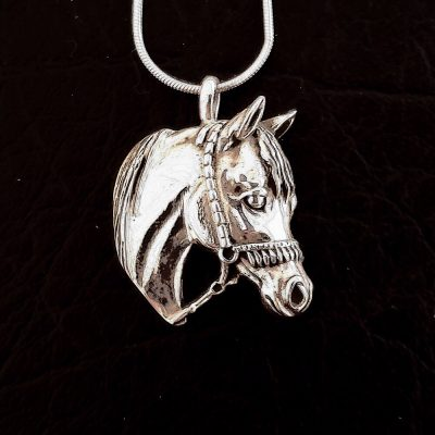 Sterling Silver Horse Pendant Charm