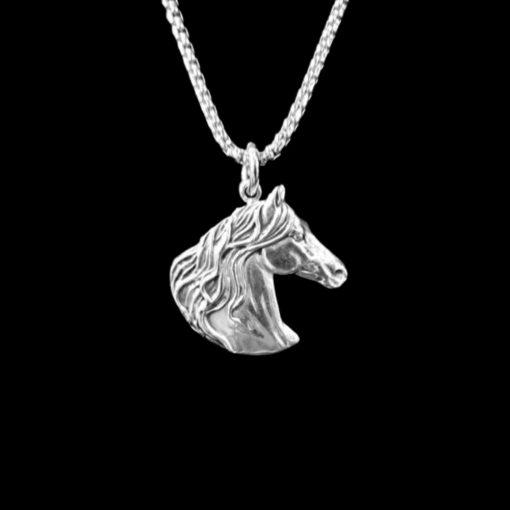 Baroque horse head necklace