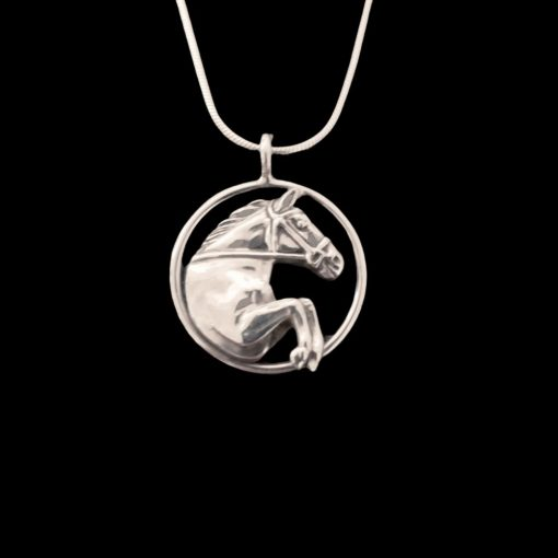 jumping horse necklace